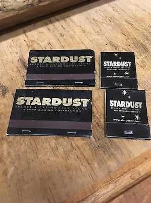 Stardust Las Vegas Casino Souvenir matches matchbooks lot of 4