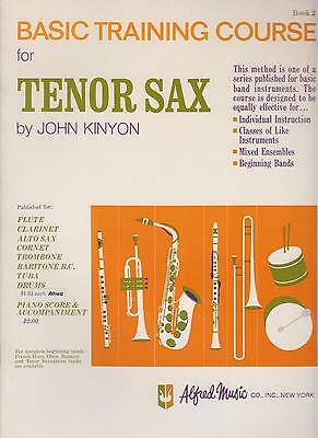 Kinyon Basic Training for Tenor Saxophone Sheet Music Instruction & Exercise #2