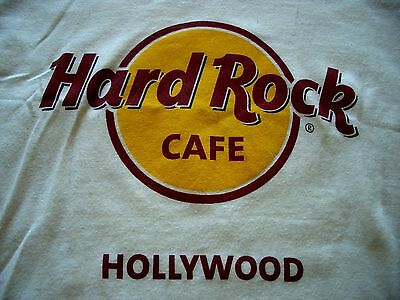 HRC Hard Rock Cafe Hollywood Classic Logo White Tee Size S