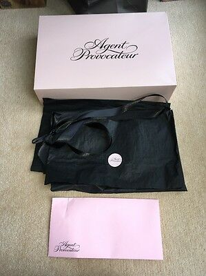 Agent Provocateur Gift Box With Ribbon Envelope And Gift Wrap Medium