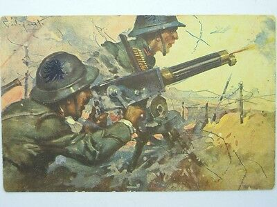 Military Machine Gunners-Artist Signed Codognato-Oq2-S42809