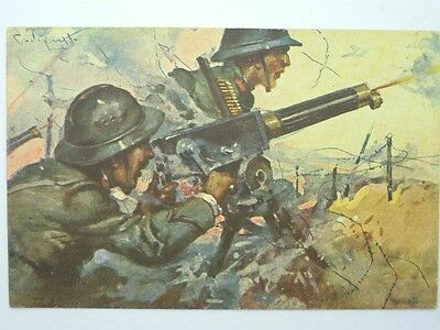 Military Machine Gunners-Artist Signed Codognato-Oq2-S42810