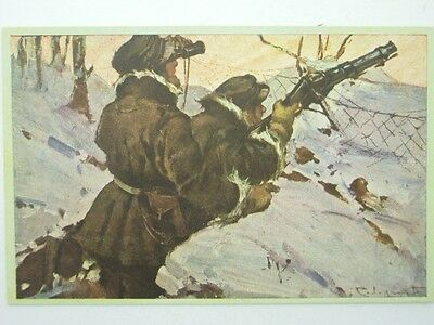 Military Machine Gunners-Artist Signed Codognato-Oq2-S42811