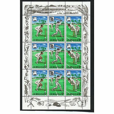 Jamaica 1968 Cricket Souvenir Sheet Mnh