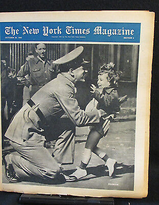 Reunion New York Times Magazine Entire Section 6 October 28, 1945