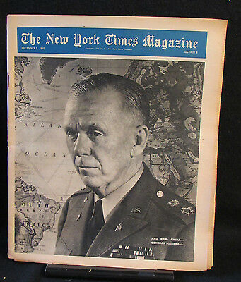 Gen. George Marshall New York Times Magazine Entire Section 6 December 9, 1945