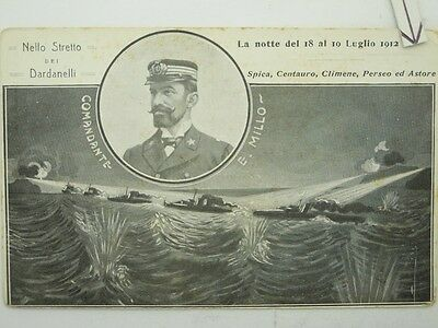 Military Navy Ww1-Italy-N Spica Famous People Millo-O6E-S60168