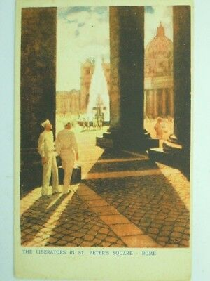 Military U.s. Army Ww2 Allies In Italy-Rome-Artist Signed-Vs9-S55968