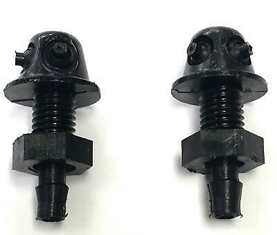 Pair of Front Universal Car Windscreen Washer Wiper Jet Twin Nozzle Spray