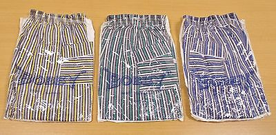 3 x VINTAGE 1970's UNWORN TELSALDA STRIPED TROUSERS ASSORTED COLOURS AGE 3 YEARS