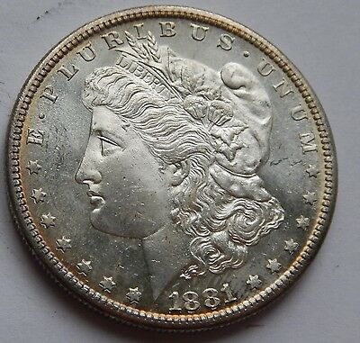 USA Morgan Dollar 1881 S UNC Proof Like .900 Silver