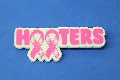 Hooters Restaurant Girl Breast Cancer Awareness Lapel Pin (Pink & White)