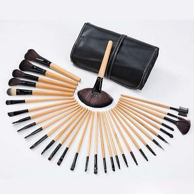 Professional 32pcs Soft Cosmetic Eyebrow Shadow Makeup Brush Set Kit+Pouch Bag