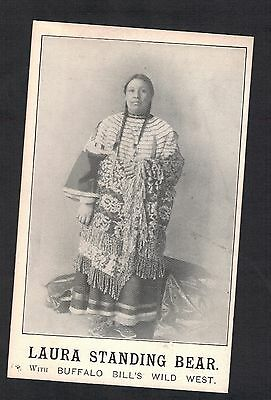 "Red Indian.""laura Standing Bear. Buffalo Bills Wild West"". Old Printed Postcard"
