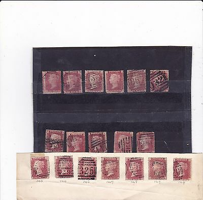 Great Britain Victoria 18 Penny Reds Stamps