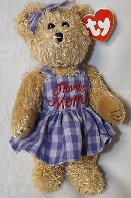 "Ty Attic Treasure Mommy Bear Thanks Mom NWT 8.5"" tall"