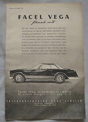 1963 Facel Vega MkII Original advert