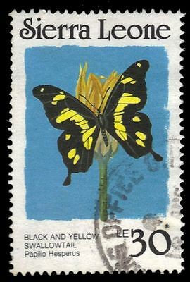 SIERRA LEONE 869 (SG1038A) - Black-and-Yellow Swallowtail (pa13382)
