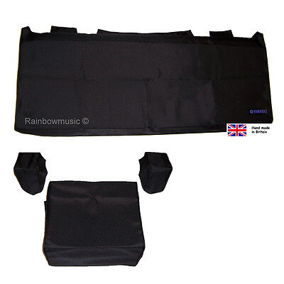Deluxe Dust Cover Set For Yamaha Tyros 5  ( 76 Key ) Black