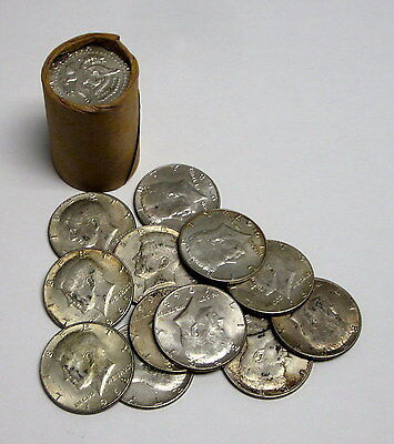 Roll of 20 Circulated, Assorted Kennedy Half Dollars - 40% Silver