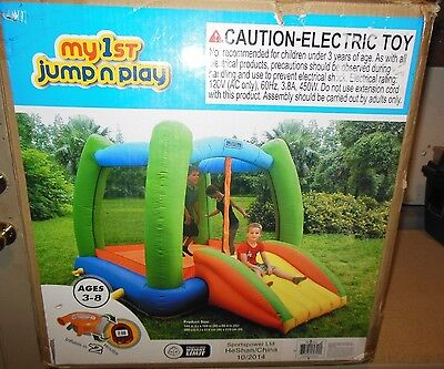 Sportspower My First Jump 'n Play Inflatable Bounce House New in box