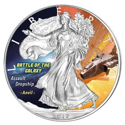 USA - 1 Dollar 2017 - Silver Eagle - Assault Dropship (6.) - 1 Oz Silber Farbe