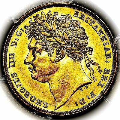 1822 King George IV IIII Great Britain London Mint Gold Sovereign PCGS MS62
