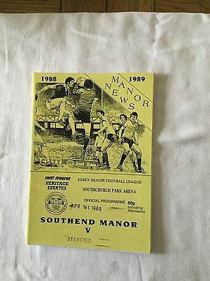 SOUTHEND MANOR v STANSTED 1988/9.
