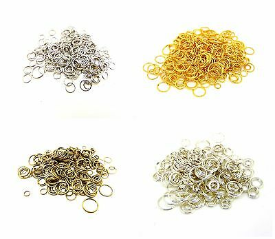 Mixed Size Jump & Split Rings Findings Craft Silver Gold Plated + MORE ML