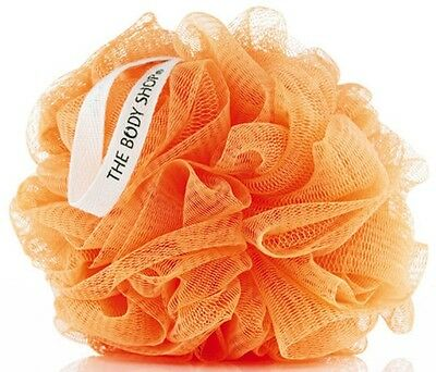 Body Shop  ORANGE SATSUMA Bath Shower Lily Polisher Wash Puff Scrunchie Sponge