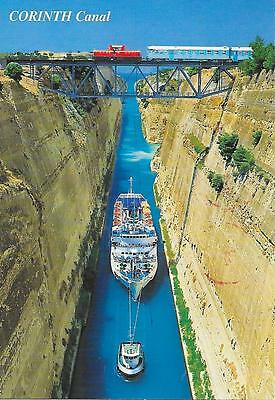 Corinth Canal- Posted postcard