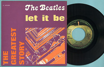 "7"" THE BEATLES : LET IT BE 45 GIRI - RARE COVER Italy APPLE 1976 Greatest story"