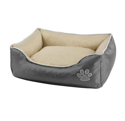 Luxury Waterproof Pet Dog Bed Grey Ascot Basket Small Medium and Large