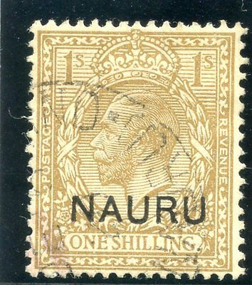 Nauru 1916 KGV 1s bistre-brown very fine used. SG 12. Sc 12.