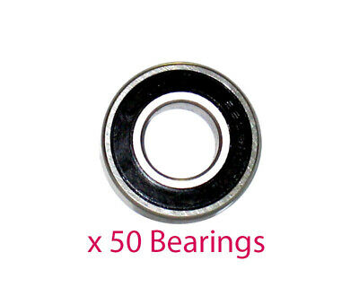Pack of 50 x 6200 2RS Stub Axle Bearings 10mm x 30mm x 9mm Go Kart