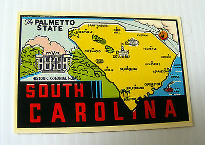 travel CAR DECAL sticker souvenir SOUTH CAROLINA Goldfarb novelty Impko