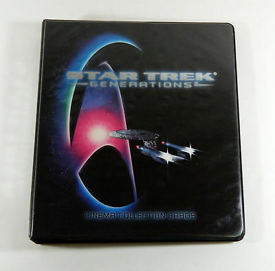 Star Trek Generations Cinema Collection Trading Card Binder Base + Chase Sets