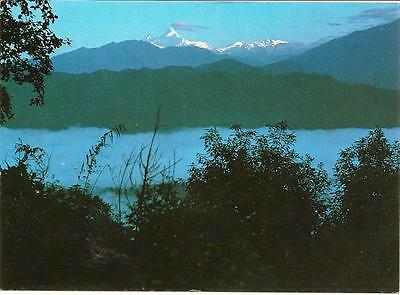 Himalchuli in early morning from near Arughat Bazar- Nepal - Unposted Postcard