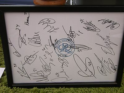 Queens Park Rangers F.c Framed Hand Signed Squad Sheet 2016/17 (2)