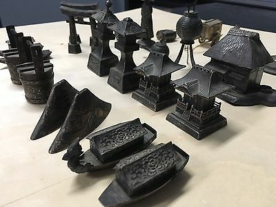 Estate Lot Japanese Chinese Sterling Silver Figural Salt & Pepper Shakers 23 Pcs