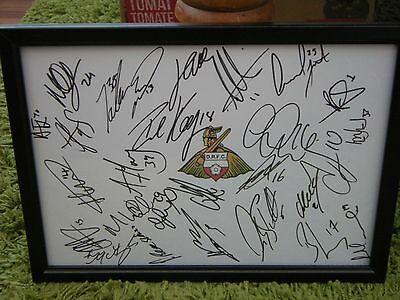 Doncaster Rovers F.c  Framed Hand Signed Squad Sheet 2016/17