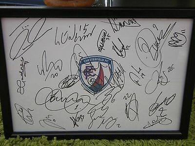 Chesterfield F.c Framed Hand Signed Squad Sheet 2016/17