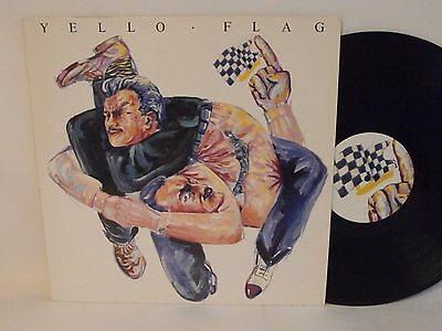 80s Electronic YELLO flag 1988 German Vinyl LP N Mint