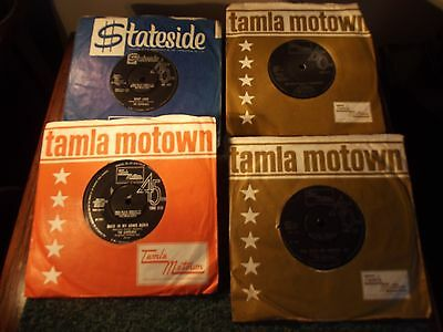 """The Supremes 4 x 7"""" 45 RPM Singles 'You Keep me Hanging On' etc"""