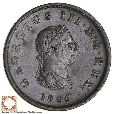 1806 Great Britain 1/2 Penny *9495