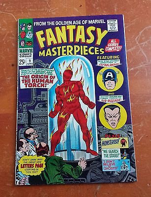 FaNTaSY MaSTeRPieCeS vol. 1  #9  VF+/NM-  9.0  from 1967 ~ORIGIN HUMAN TORCH~