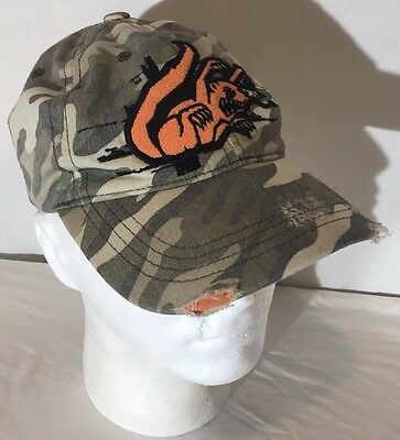 Vintage 90's Mongoose Bicycles Camouflage Distressed Baseball Hat Cap Youth Size