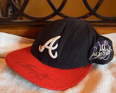 Chipper Jones Signed Jsa Certified Braves All Star Hat Autograph Authentic
