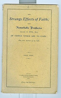 1911 Strange Effects of Faith & Remarkable Prophecies of Joanna Southcott