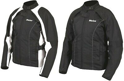 Weise Emily Black, Black/White Ladies Textile Motorcycle Jacket NEW RRP £159.99